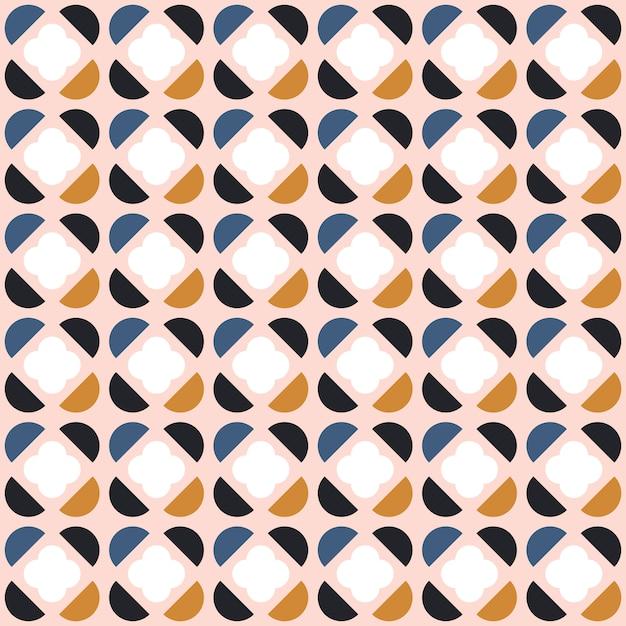 Abstrata sem costura padrão geométrico em estilo escandinavo. Vetor Premium