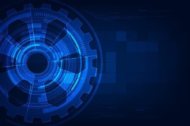 Abstrata tecnologia futurista Vetor Premium