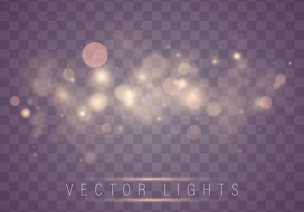 Abstratas luzes brilhantes luzes de bokeh. natal. Vetor Premium