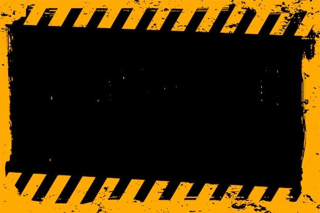 Abstrato amarelo e preto grunge vazio Vetor grátis