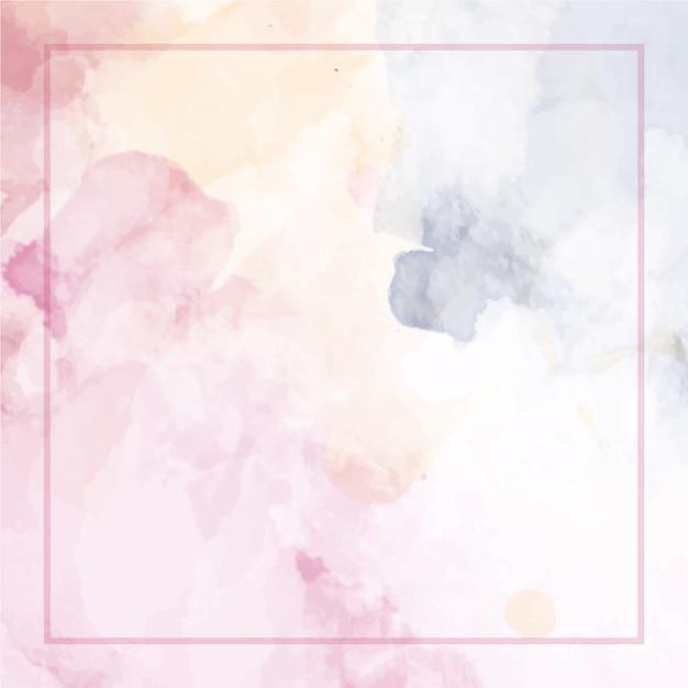 Abstrato aquarela com moldura Vetor Premium