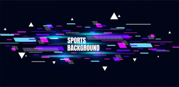 Abstrato arte colorida para esportes. partículas dinâmicas Vetor Premium