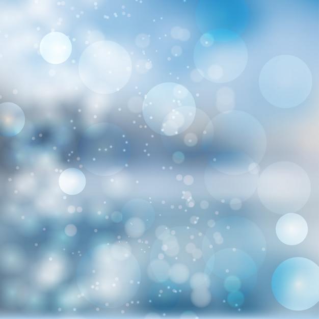Abstrato azul bokeh incrível Vetor Premium