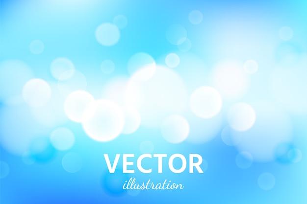 Abstrato azul céu com efeito de luz bokeh. Vetor Premium