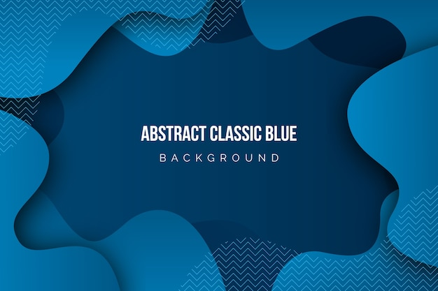Abstrato azul clássico Vetor grátis