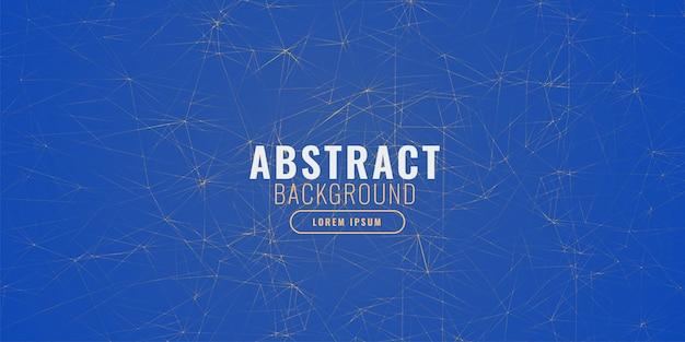 Abstrato azul com linhas de fractal Vetor grátis