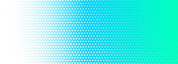 Abstrato azul e branco pontilhado banner fundo Vetor grátis