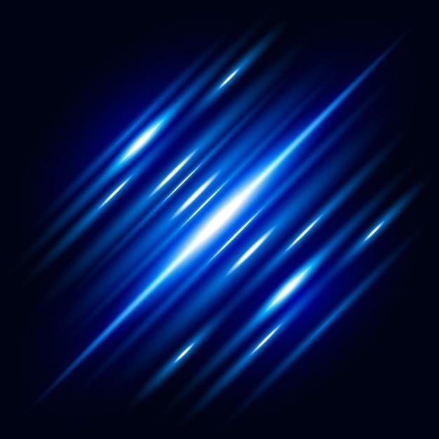 Abstrato azul efeito de luz de fundo vector Vetor Premium