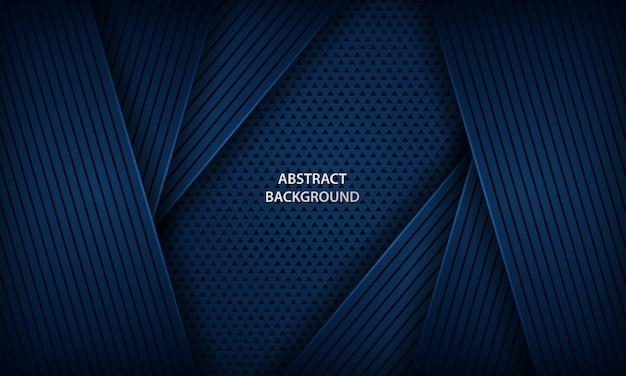 Abstrato azul escuro com formas geométricas. Vetor Premium