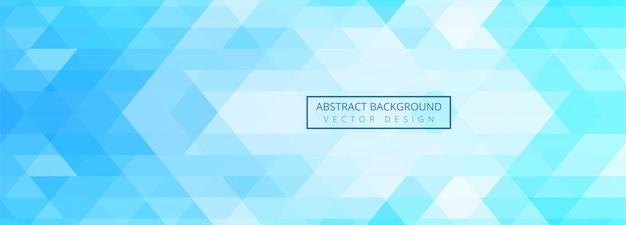 Abstrato azul formas geométricas banner fundo Vetor grátis
