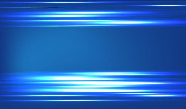 Abstrato azul. linha azul de luz. Vetor Premium