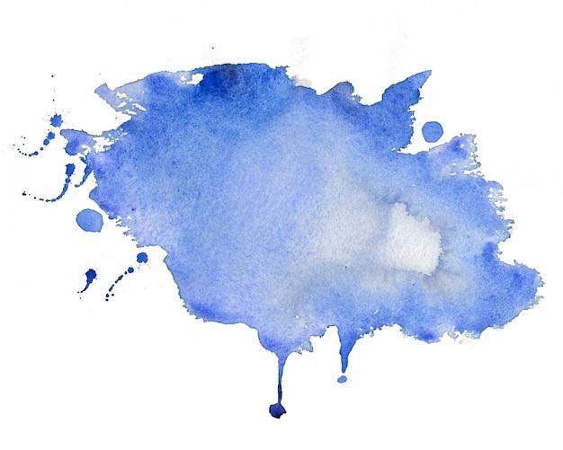 Abstrato azul mancha aquarela textura de fundo Vetor grátis