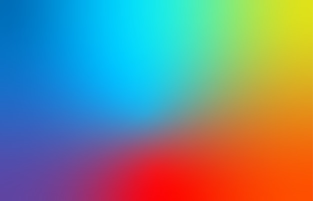 Abstrato azul, vermelho e amarelo desfocam o fundo gradiente de cor para web, apresentações e impressões. Vetor Premium