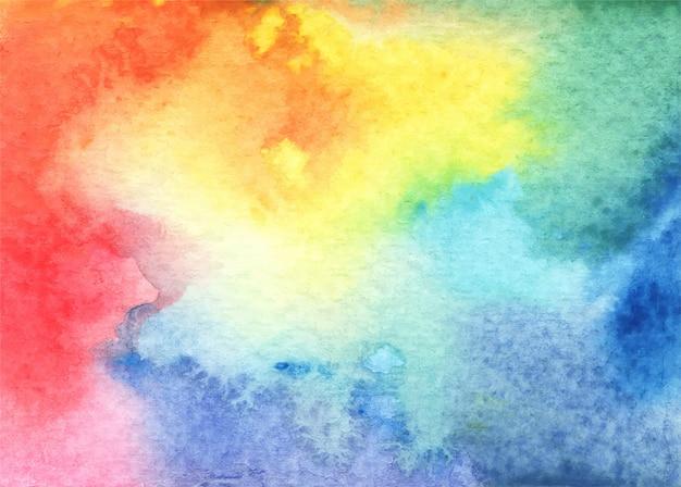 Abstrato base aquarela brilhante em diferentes tons, tons e texturas. Vetor Premium
