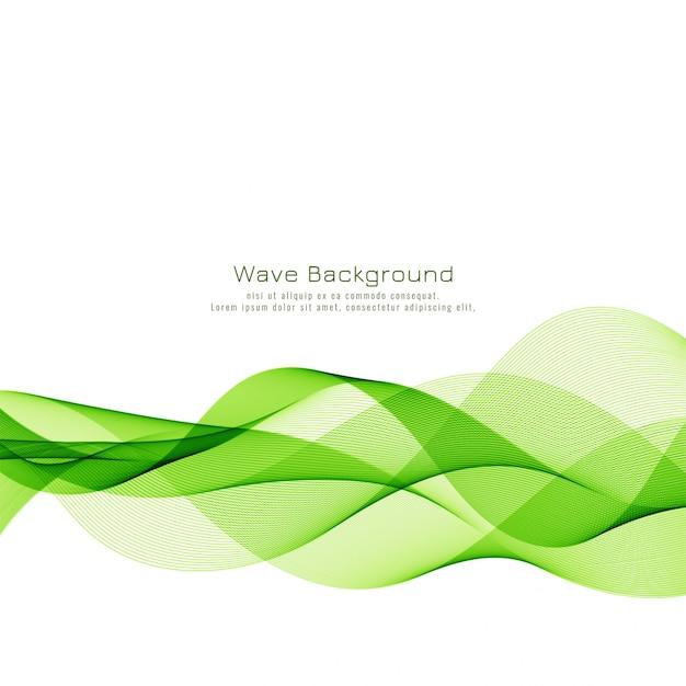 Abstrato base de negócios de onda verde Vetor grátis
