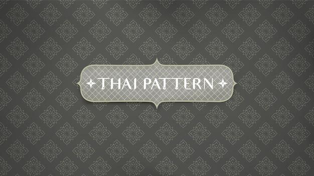 Abstrato base de padrão tailandês tradicional. Vetor Premium
