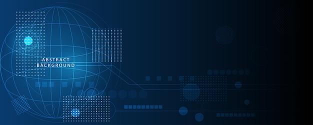 Abstrato base de tecnologia, ilustração, inovação de conceito de comunicação de alta tecnologia Vetor Premium