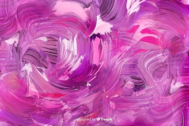 Abstrato base de traçados de pincel pintado Vetor grátis