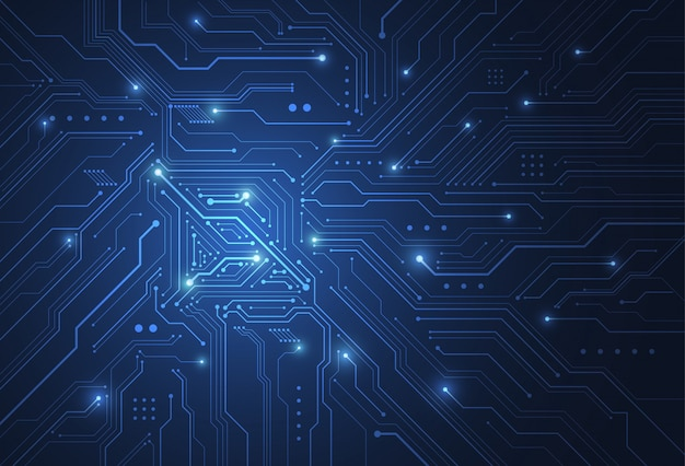 Abstrato base digital com textura de placa de circuito de tecnologia Vetor Premium