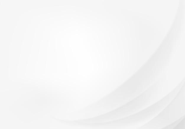 Abstrato branco com linhas suaves Vetor Premium