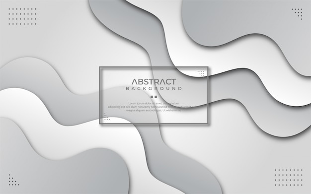 Abstrato branco e cinza ondulado em estilo de jornal Vetor Premium