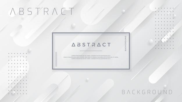Abstrato branco e cinzento. Vetor Premium