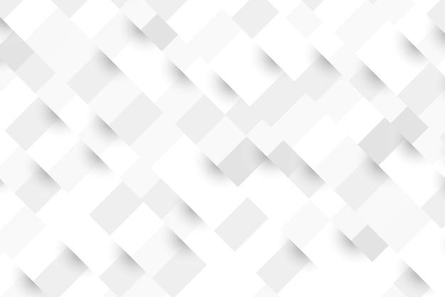 Abstrato branco em estilo de papel 3d Vetor Premium