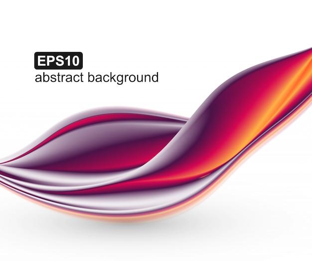Abstrato colorido ondas de fundo. Vetor Premium
