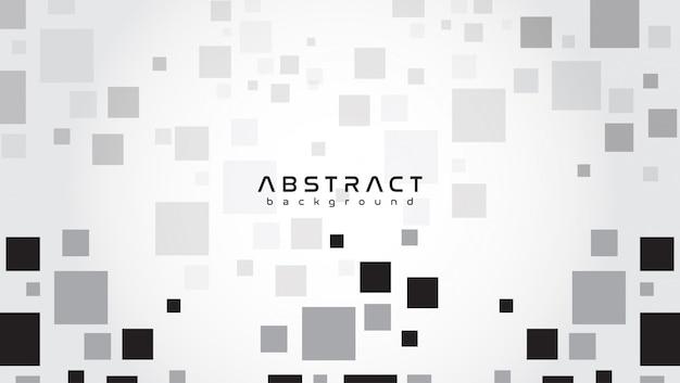 Abstrato com fundo cinza com formas quadradas Vetor Premium