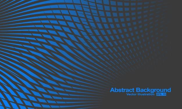 Abstrato com linhas de gradação de preto e azul. Vetor Premium