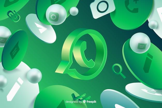 Abstrato com logotipo do whatsapp Vetor Premium