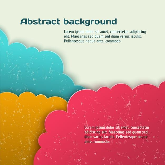 Abstrato com nuvens de papel Vetor Premium