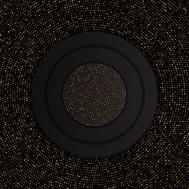 Abstrato com padrão de pontos de ouro Vetor grátis