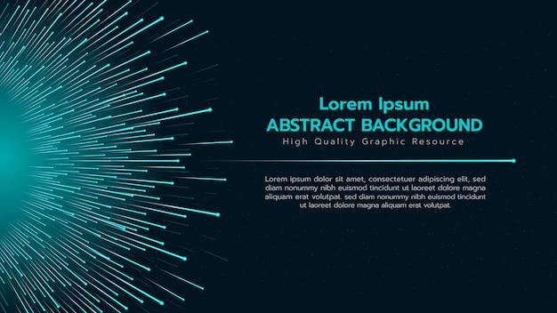 Abstrato com partículas espalhando fora do grande grupo. Vetor Premium