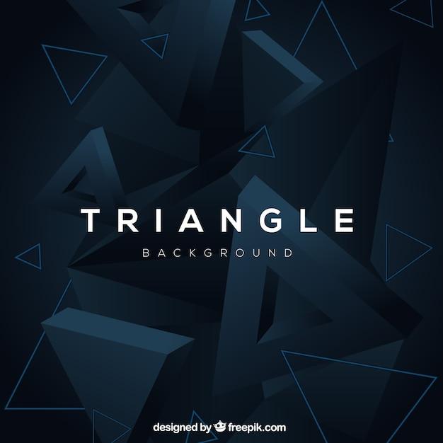 Abstrato com triângulos 3d Vetor grátis