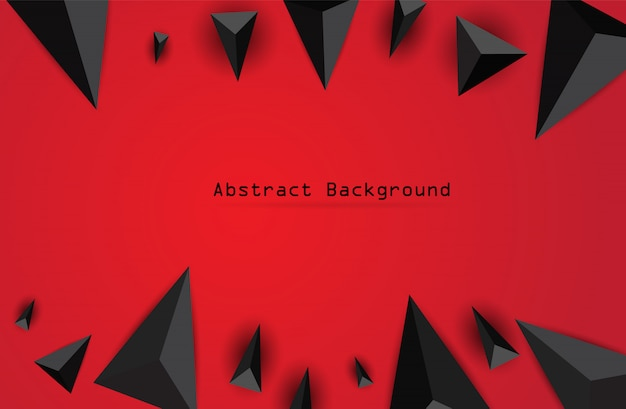 Abstrato com triângulos pretos. Vetor Premium