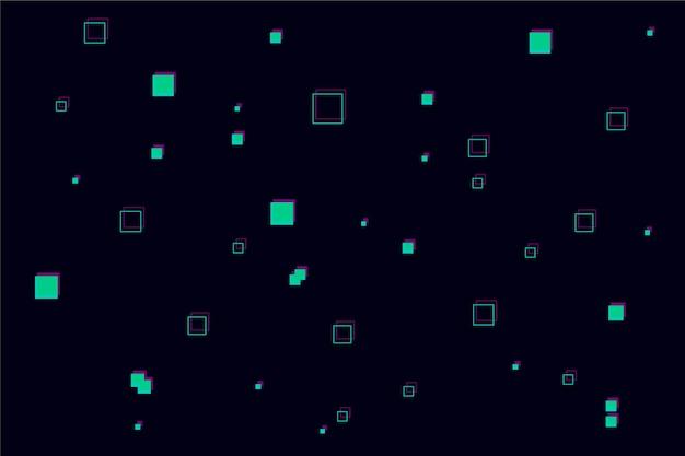 Abstrato de chuva de pixel Vetor grátis
