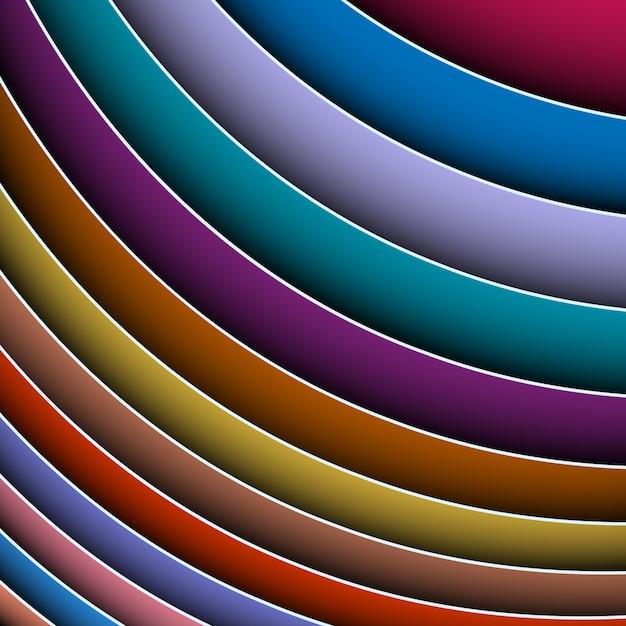Abstrato de linhas coloridas Vetor Premium