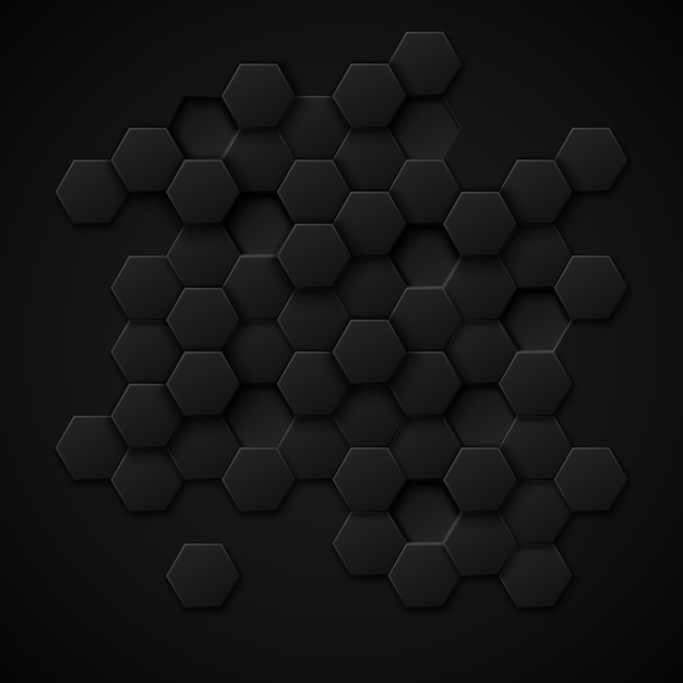 Abstrato de vetor de tecnologia de carbono. design metal preto, textura de material industrial Vetor grátis