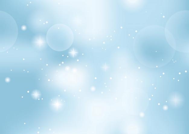 Abstrato de vetor sem costura com luzes e halos. horizontal e verticalmente repetível. Vetor Premium