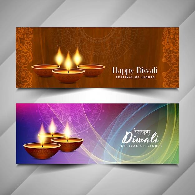 Abstrato design de banners religiosos feliz diwali Vetor grátis
