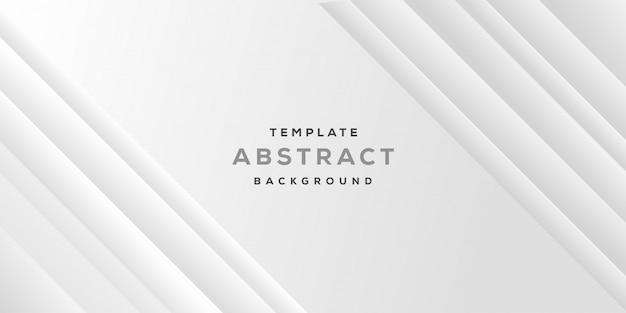 Abstrato design minimalista geométrico com fundo cinza branco negócios Vetor Premium