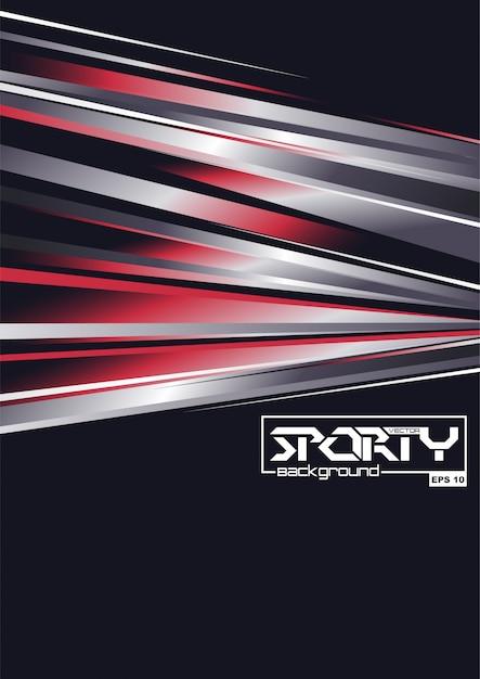 Abstrato desportivo Vetor Premium