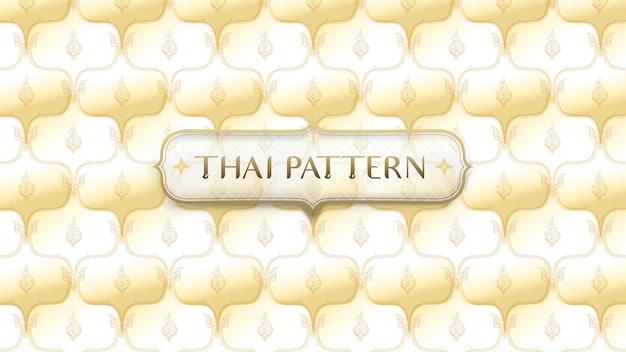 Abstrato dourado tradicional tailandesa de fundo Vetor Premium