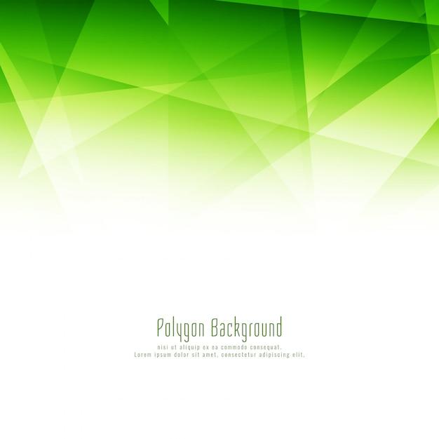 Abstrato elegante polígono verde elegante design de fundo Vetor grátis