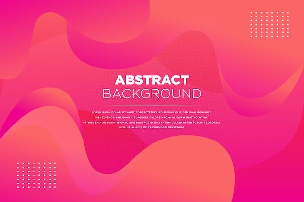 Abstrato fluido vermelho fundo rosa Vetor Premium