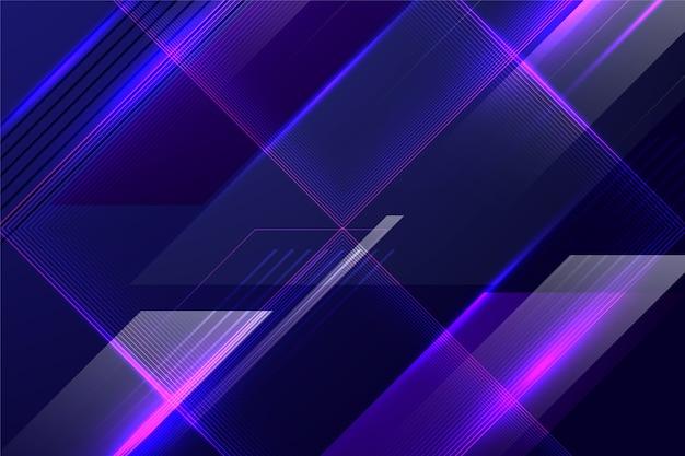 Abstrato futurista com linhas coloridas Vetor grátis