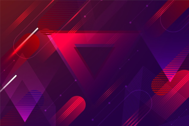 Abstrato futurista com linhas vermelhas Vetor Premium