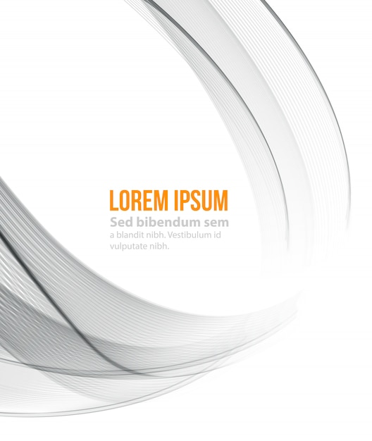 Abstrato, futurista ondulado Vetor Premium