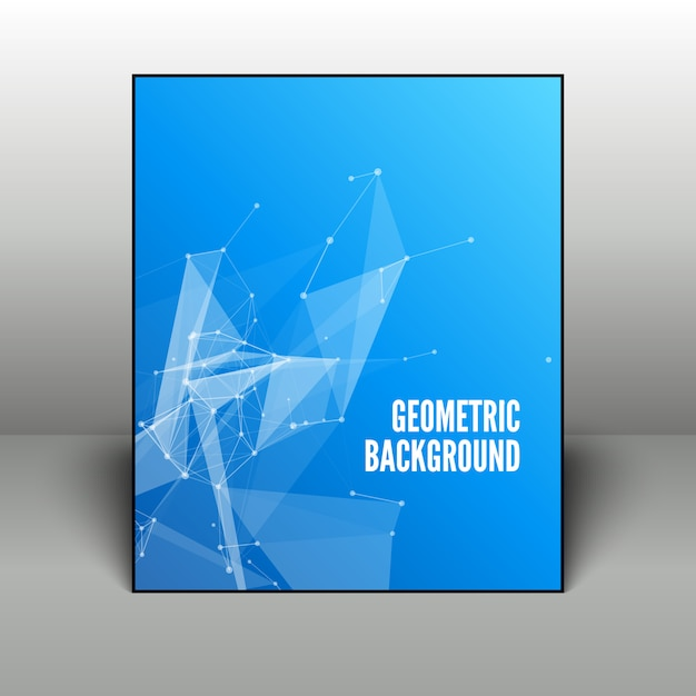 Abstrato geométrico azul no quadro preto Vetor Premium